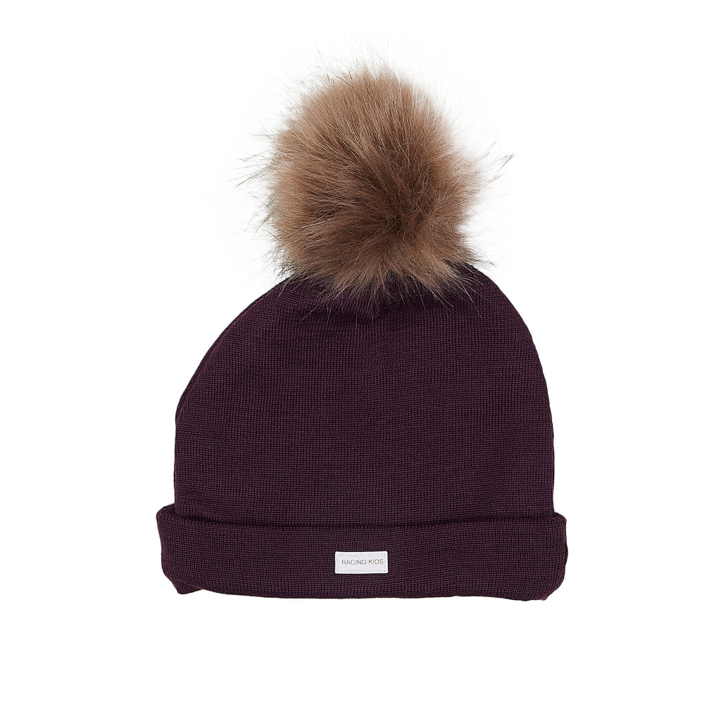 Wool Beanie with Pompom 609005-31 AW19