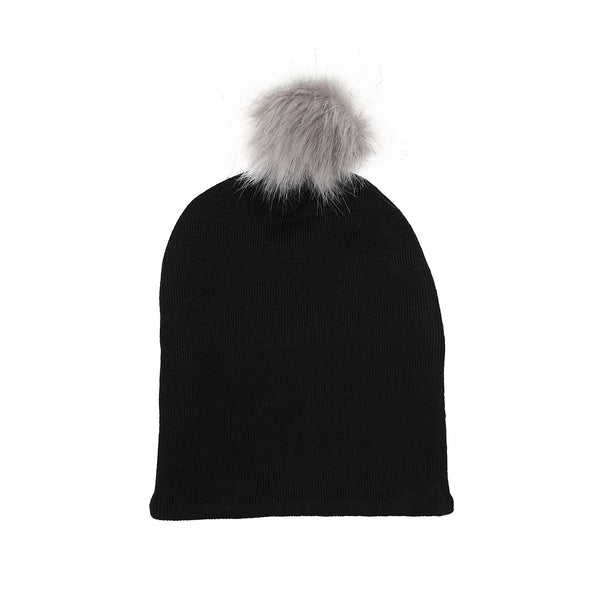 Wool Beanie with Pompom 609055-20 AW19