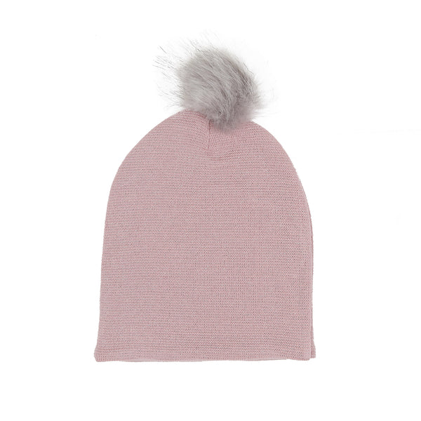 Wool Beanie with Pompom 609055-90 AW19