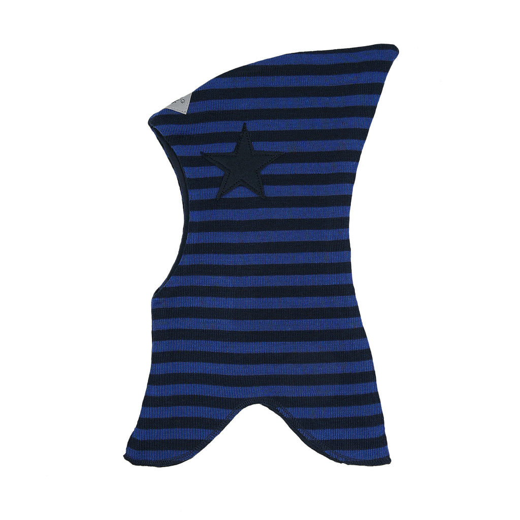 Wool striped Balaclava with top with filt star 647101-1485 AW19