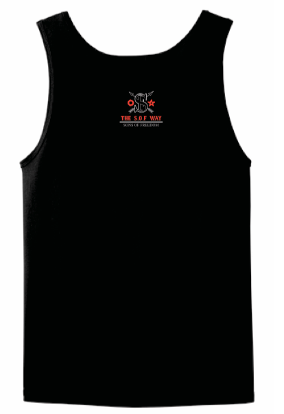 THE 'BLACK OUT' TSW ULTRA COTTON GILDAN TANK TOP