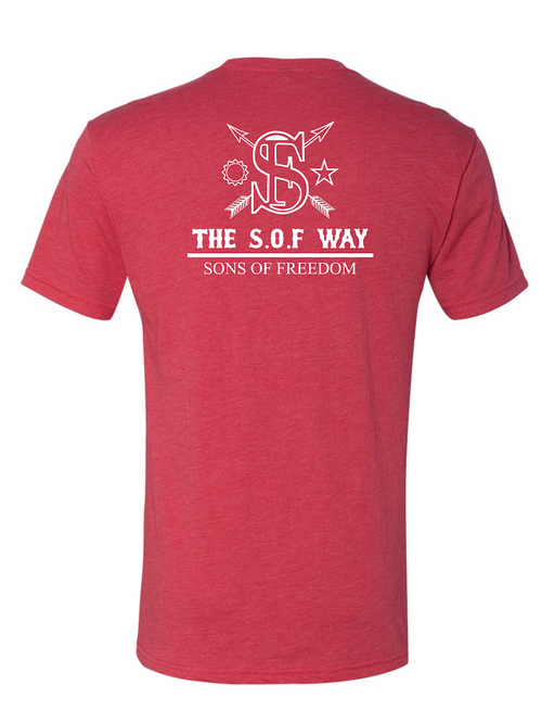"""THE RED EMPIRE STRIKES BACK"" TSW RED TRI-BLEND FABRIC T-SHIRT"