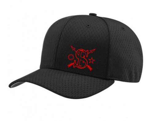 """THE BLACK FLAG"" - TSW RICHARDSON 495 PRO MESH FLEX HAT"
