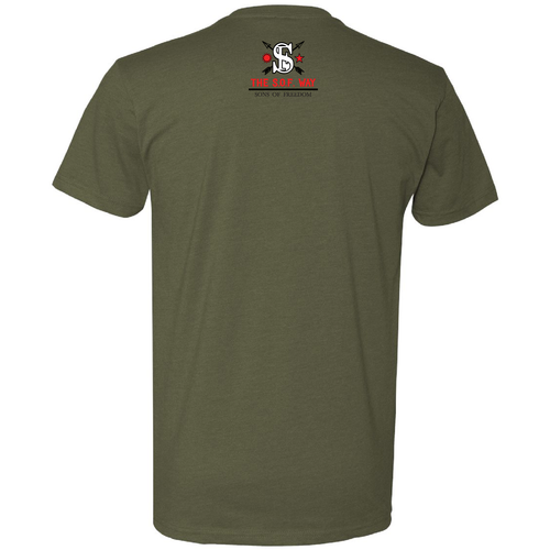 """5.56 INCORPORATED"" TSW MIL GREEN T-SHIRT"
