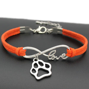Pfotenarmband Infinity Orange