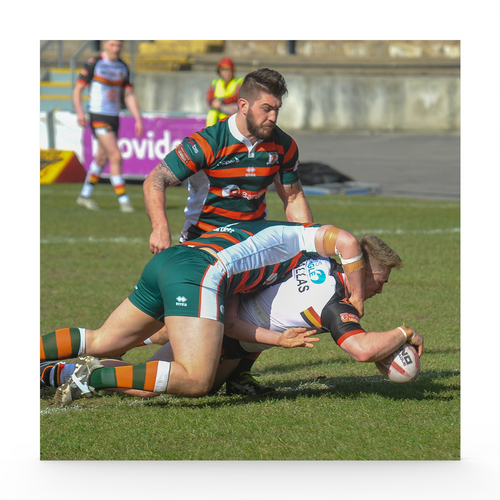 Hunslet (H) Sam Hallas' 1st try