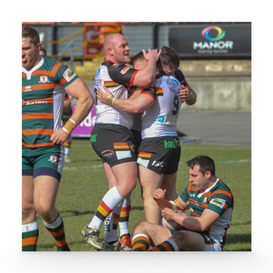Hunslet (H) Sam Hallas Try celebrations