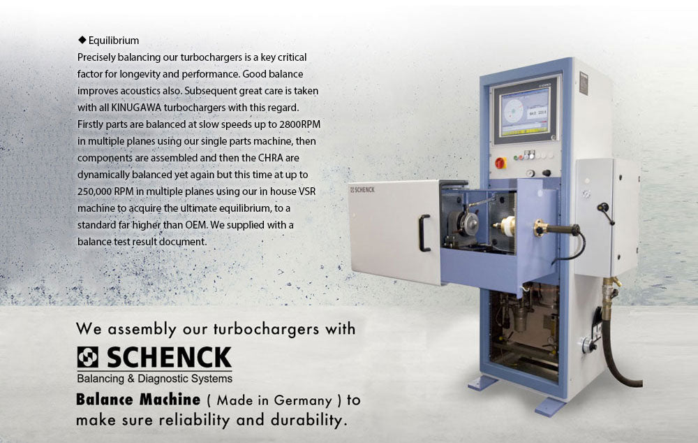 Kinugawa Turbo Systems SCHENK Balancer