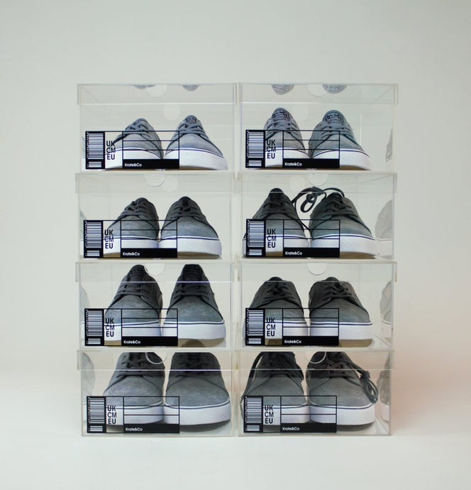 The OG Crate - Sneaker Storage Box & Display Case - 8 Pack