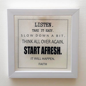 Start Afresh | Floating Frame