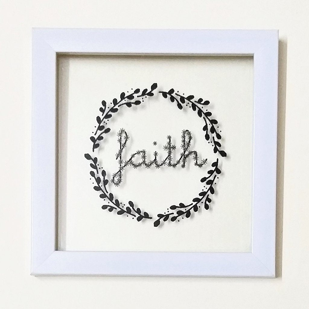 Faith (Black)! Floating Frame