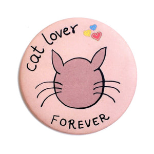 Cat Lover Badge+Magnet