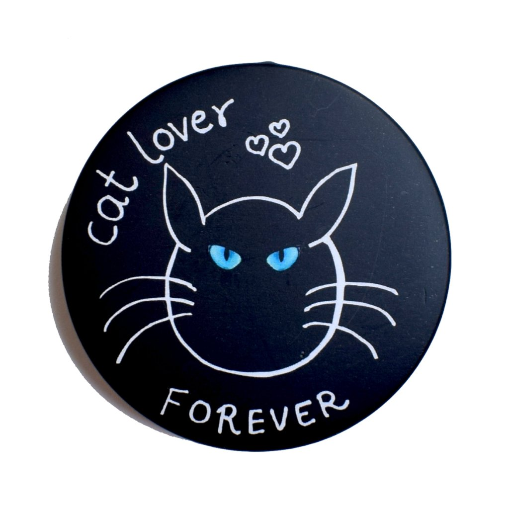 Cat Lover - Blue eyes! | Badge+Magnet