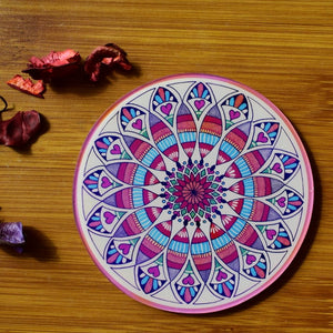 Colourful Mandala by Navanitha S. | Coaster