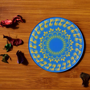 Warli - Light Blue | Coaster