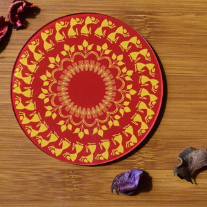 Warli - Red | Coaster