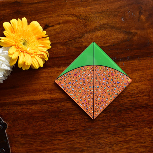 Green Orange Patang! | Coaster