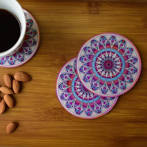 The Colorful Mandala | Coaster - Set of 6