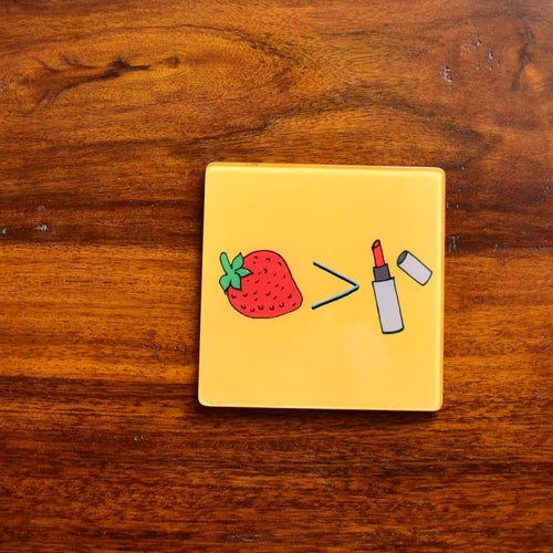 Strawberries over Lipsticks! | Coaster