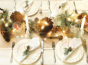 Decorating your table with Christmas Lights