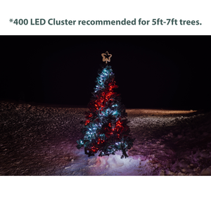 Twinkly 400 LED Cluster Lights - Generation II - Green Wire, 19.5 ft Long
