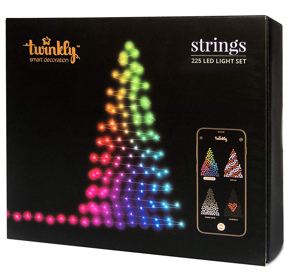 Twinkly 225 Mini LED Christmas Lights | Customizable | App Controlled | WiFi Enabled