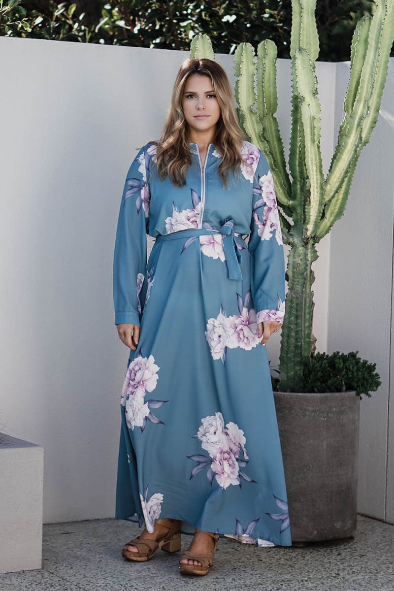 Danika Maxi Dress - Light Blue