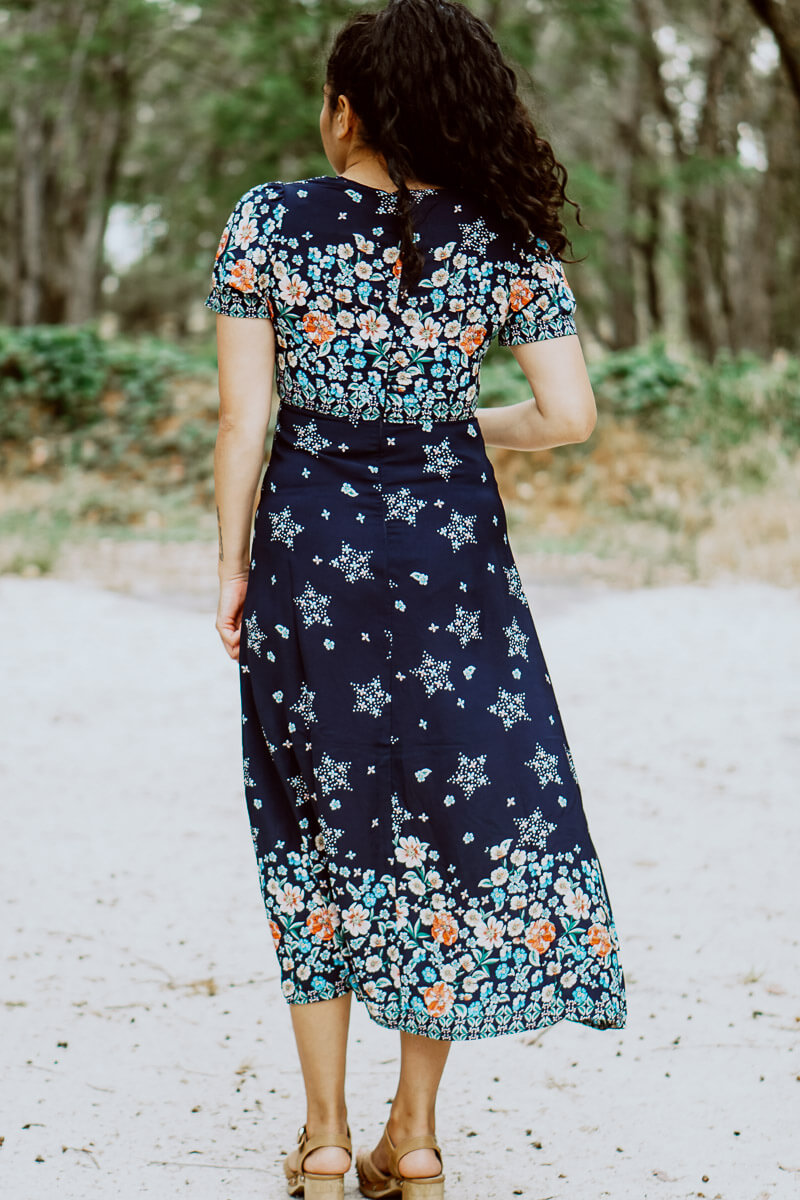 Abigail Navy Maxi Dress