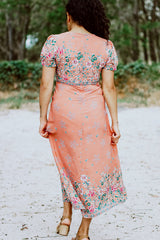 Abigail Peach Maxi Dress