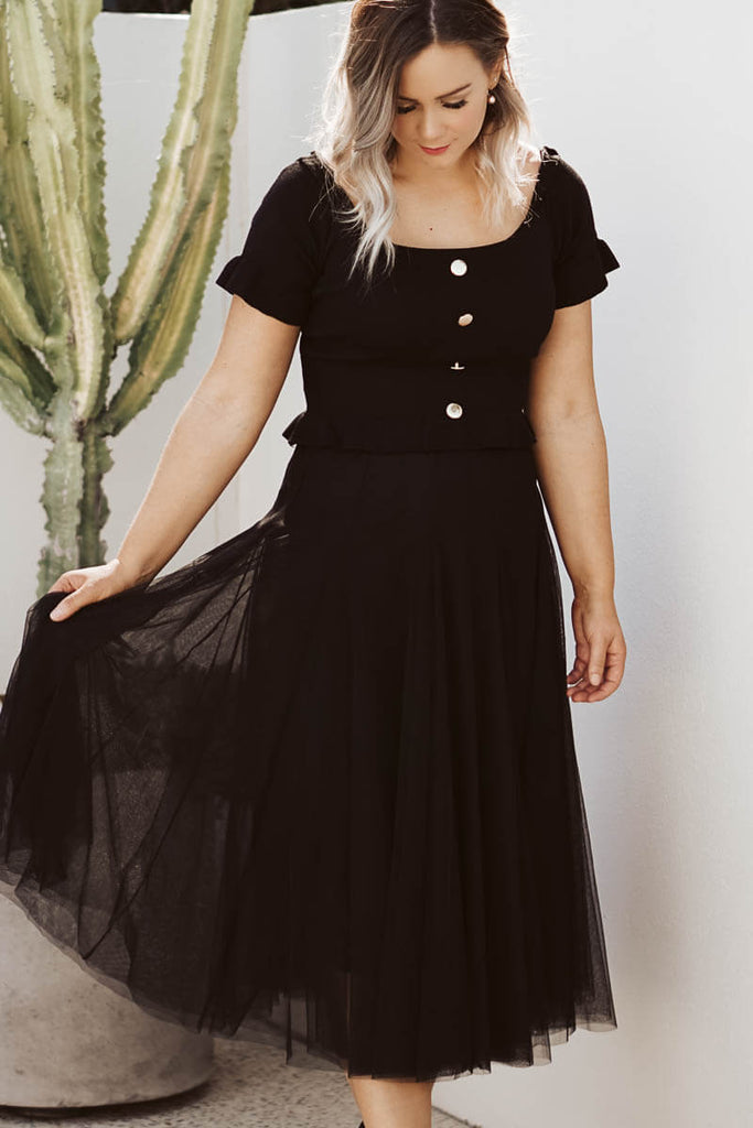 Lovely Tulle Skirt - Black