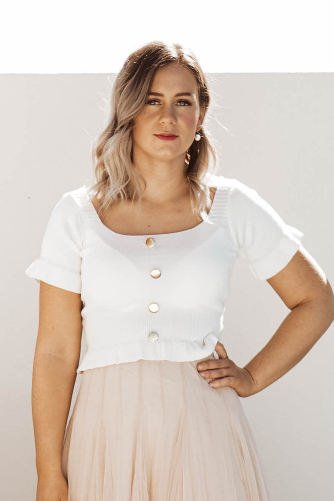 Sweetheart Top - Ivory