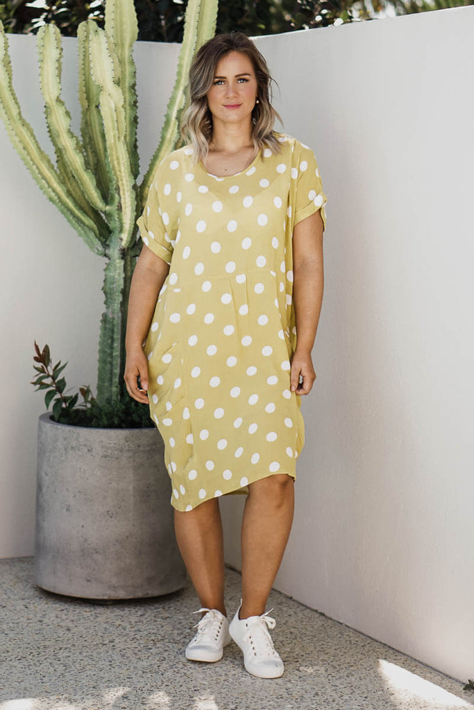 Breeze Midi Dress - Mustard