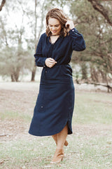 Jayde Classic Shirt Dress - Navy
