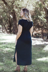 August Tie Dress - Navy