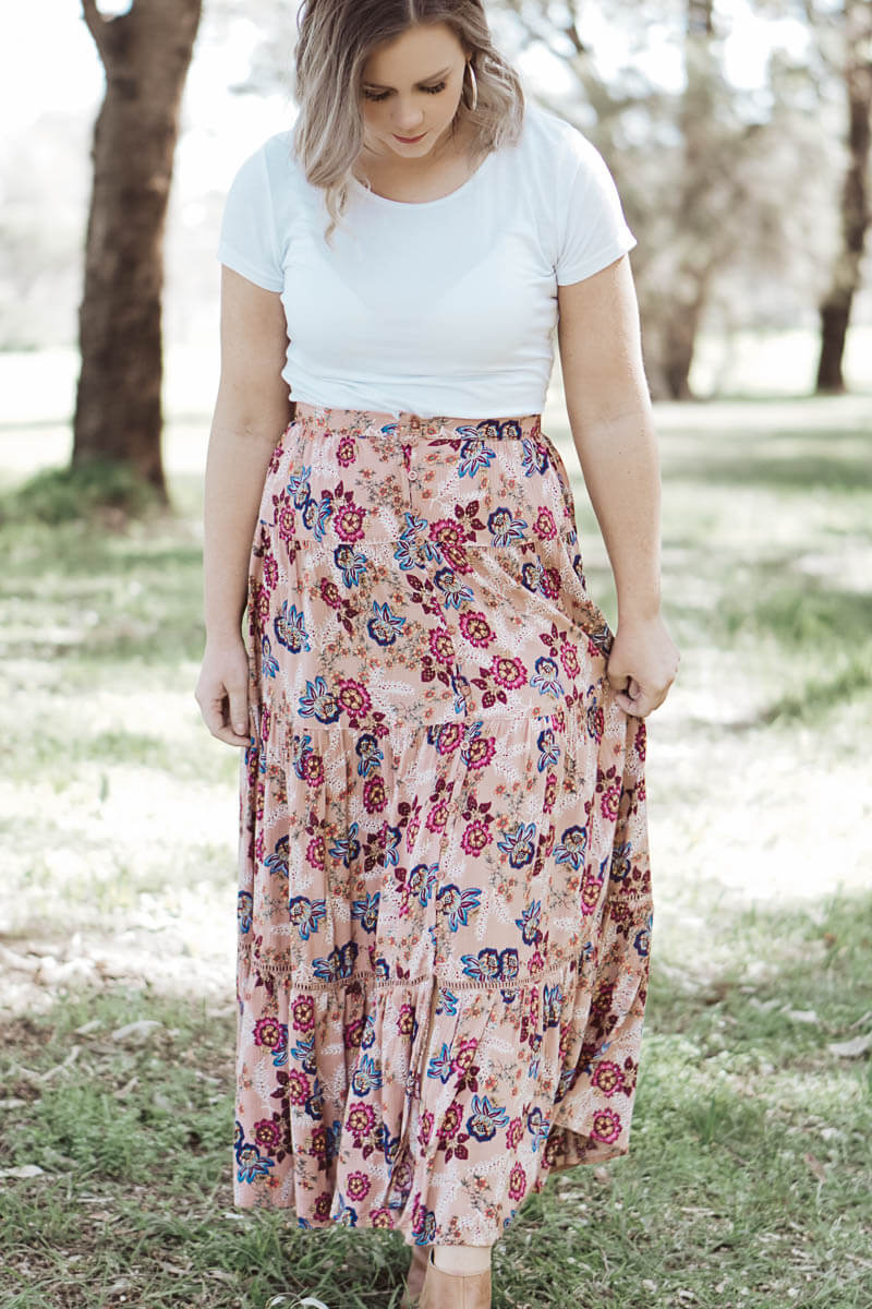 Nicolette Maxi Skirt - Dusty Rose