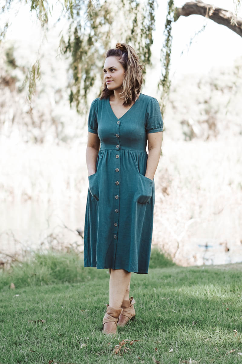 Gillian Dress - Teal