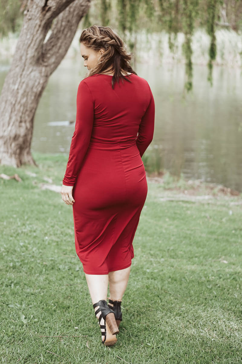 Brittany Dress - Burgundy