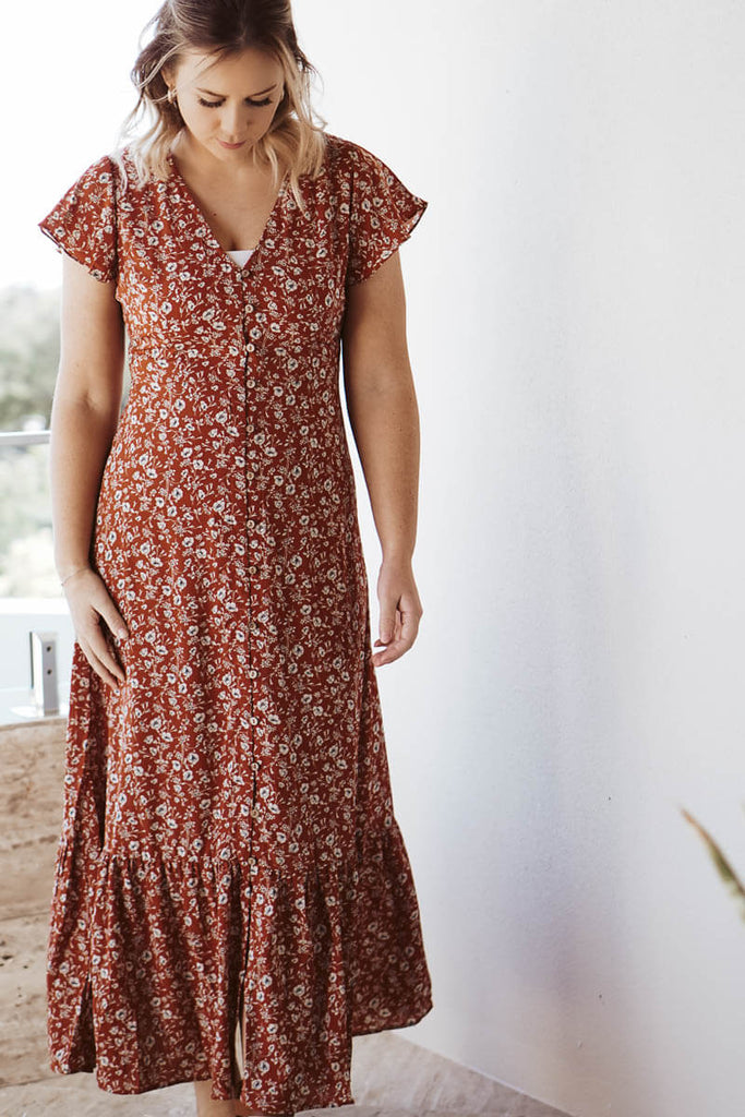 Presley Maxi Dress - Burnt Orange