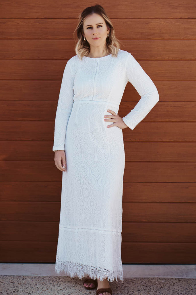 Charity Lace Dress - White