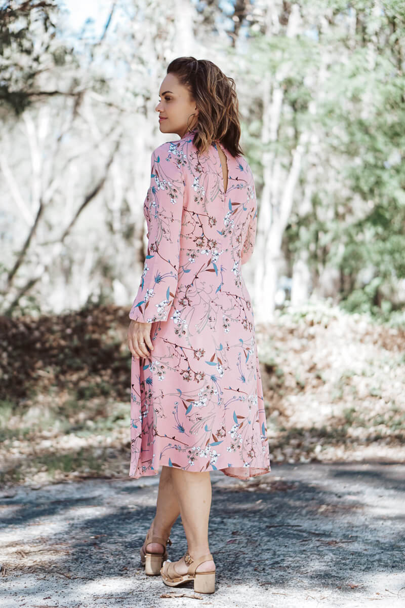 Holly Dress - Pink Floral