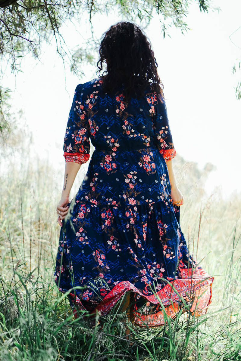 Jaase Cherry Blossom Maxi Dress
