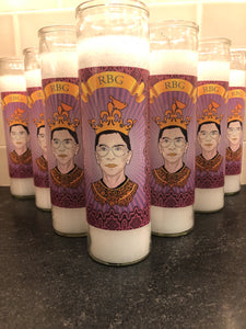 Ruth Bader Ginsberg Longevity Candle without holographic border