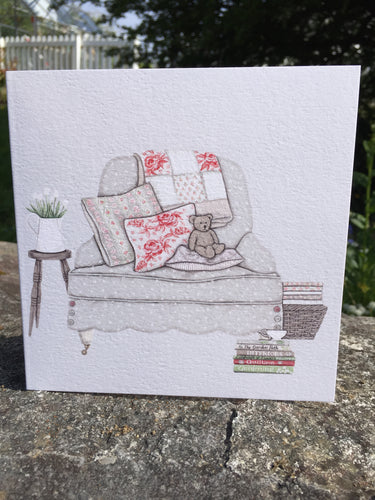 Bear on the Chair Greeting Card
