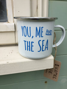 You, Me & The Sea enamel mug