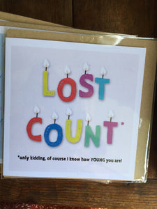 Lost Count Card by Lainey K