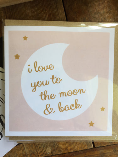 Moon Card by Lainey K