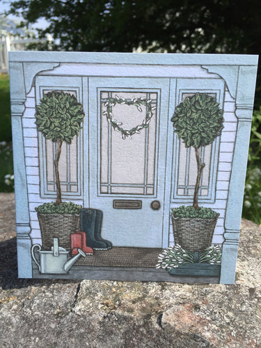 The Porch Greeting Card by Sally Swannell