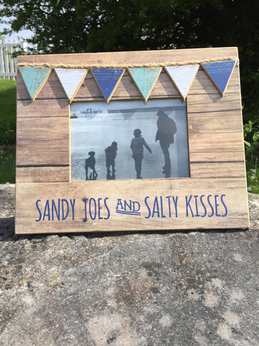 Sandy Toes & Salty Kisses Photo Frame