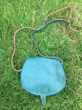 Vintage Green Preloved Leather Cartridge Bag