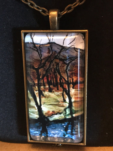 Necklace 'Dark Trees Along the River' by Ruth Cadden